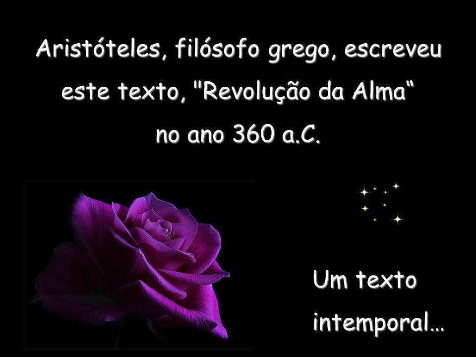 Aristóteles, filósofo grego, escreveu este texto, Revolução da Alma