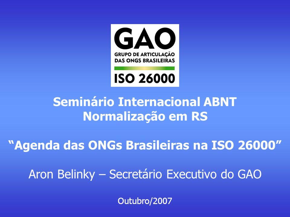 Seminário Internacional ABNT Normalização em RS