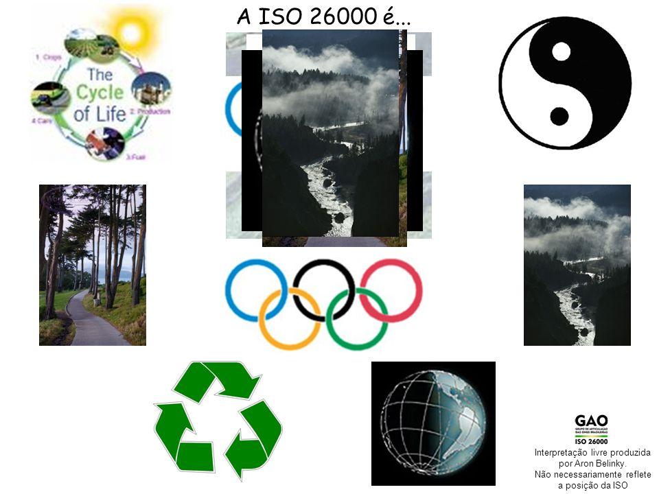 A ISO 26000 é... Interpretação livre produzida por Aron Belinky.