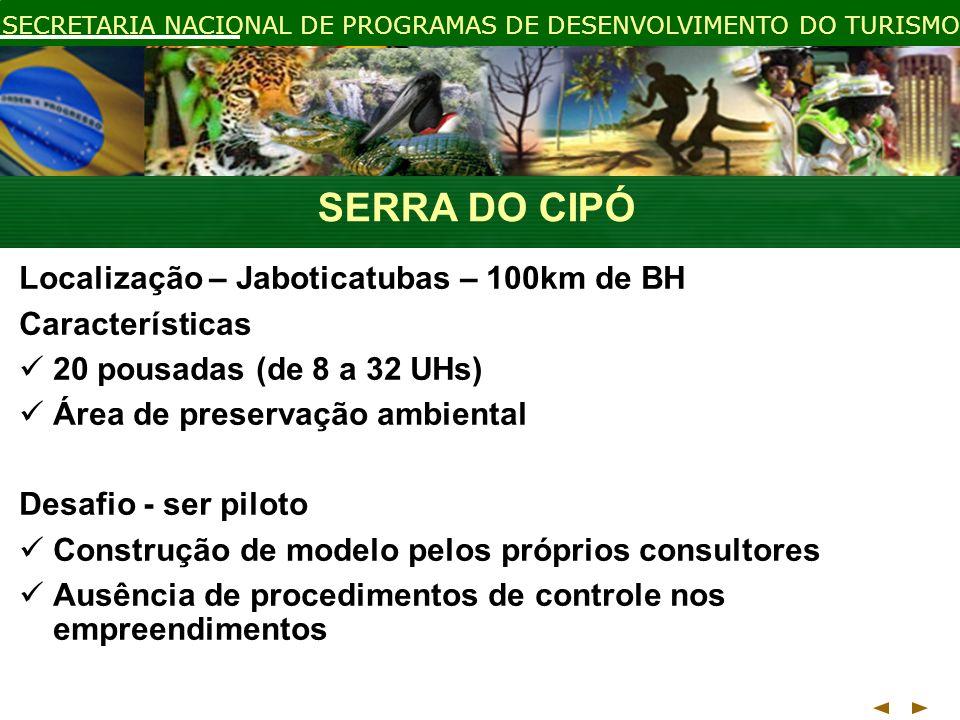 SERRA DO CIPÓ Localização – Jaboticatubas – 100km de BH