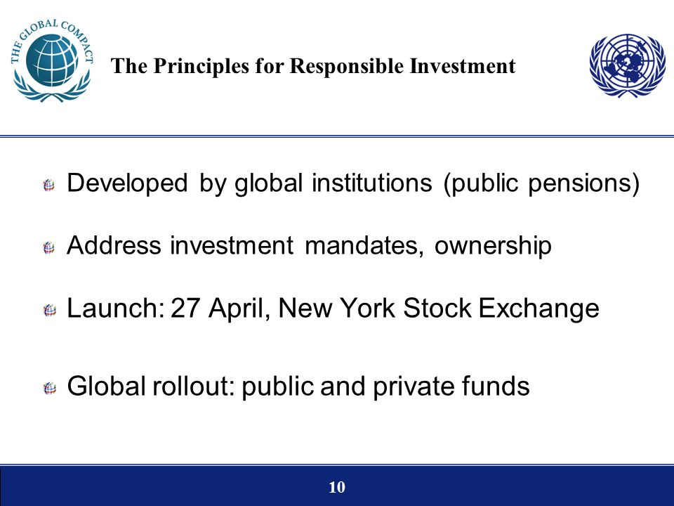 The Principles for Responsible Investment