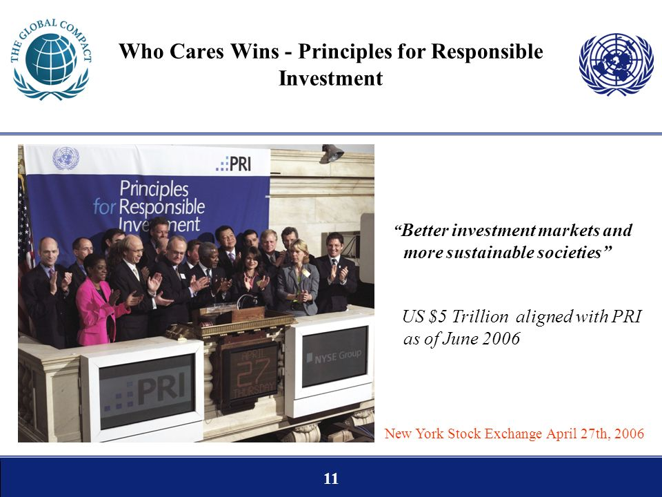 Who Cares Wins - Principles for Responsible Investment
