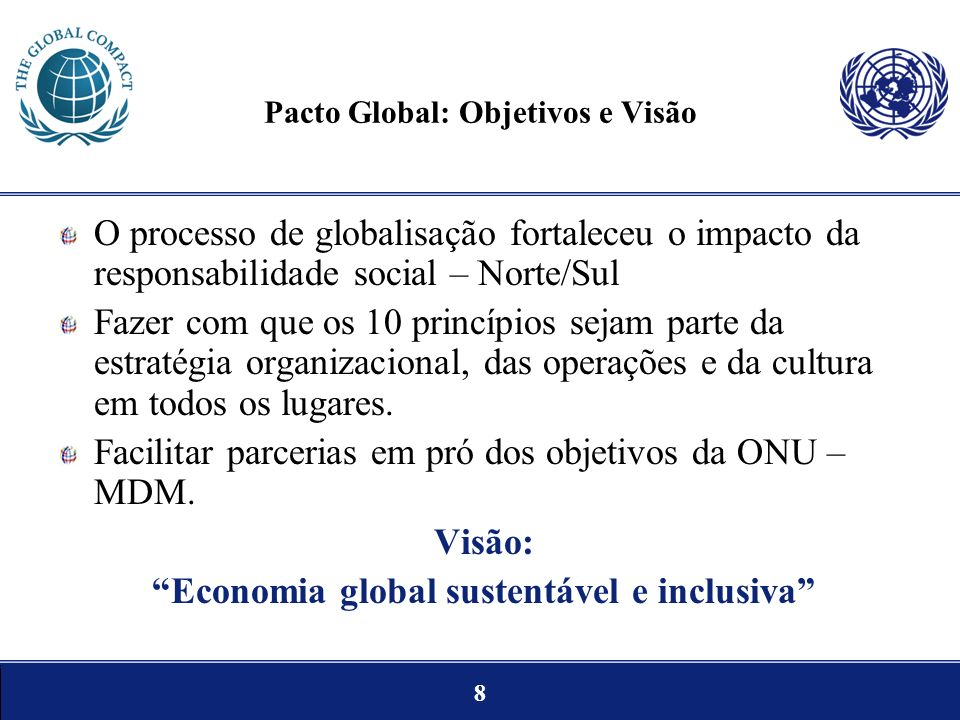 Pacto Global: Objetivos e Visão