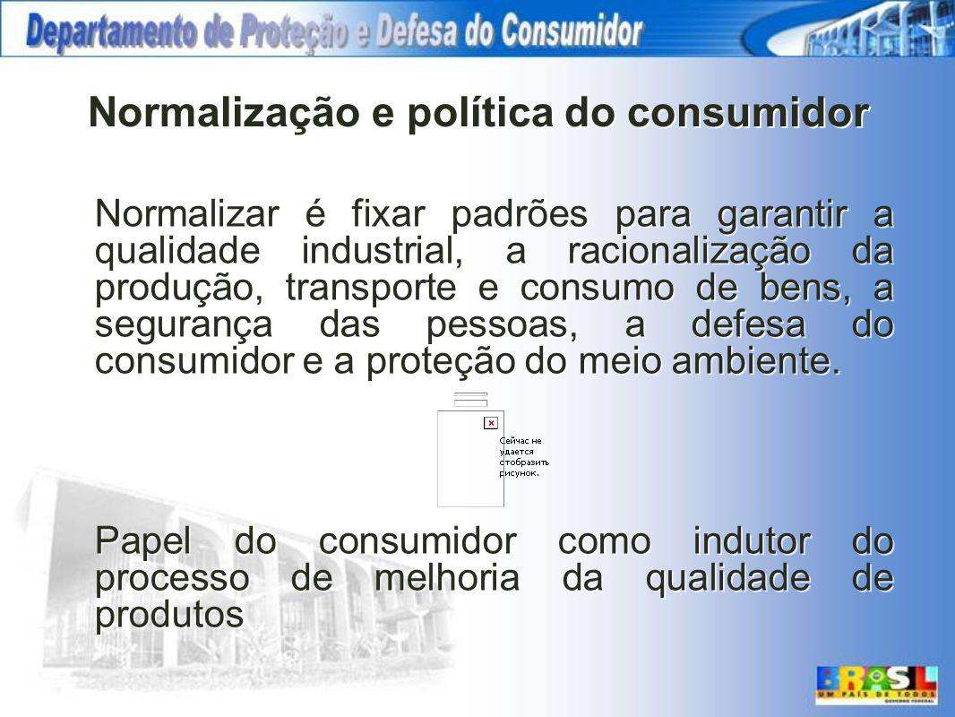 Normalização e política do consumidor