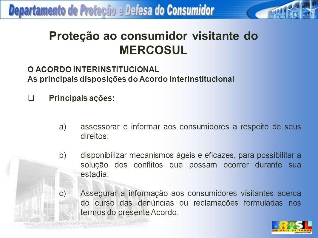 Proteção ao consumidor visitante do MERCOSUL