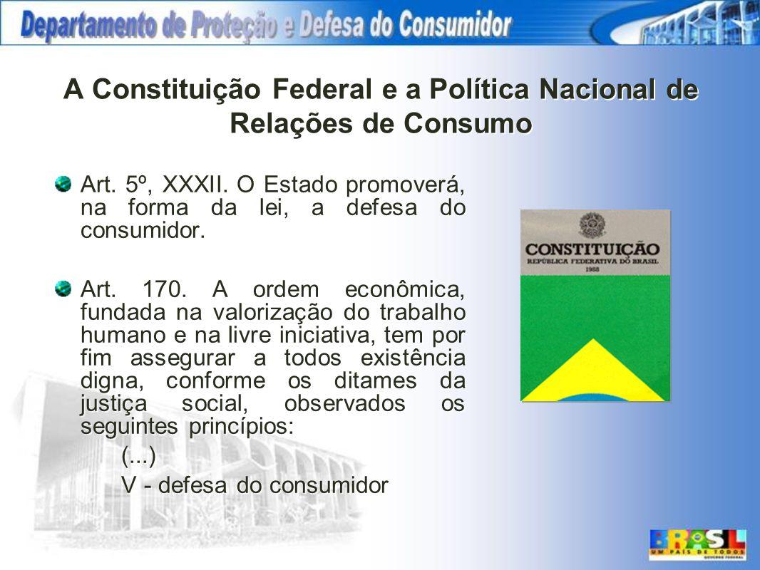 A Constituição Federal e a Política Nacional de Relações de Consumo