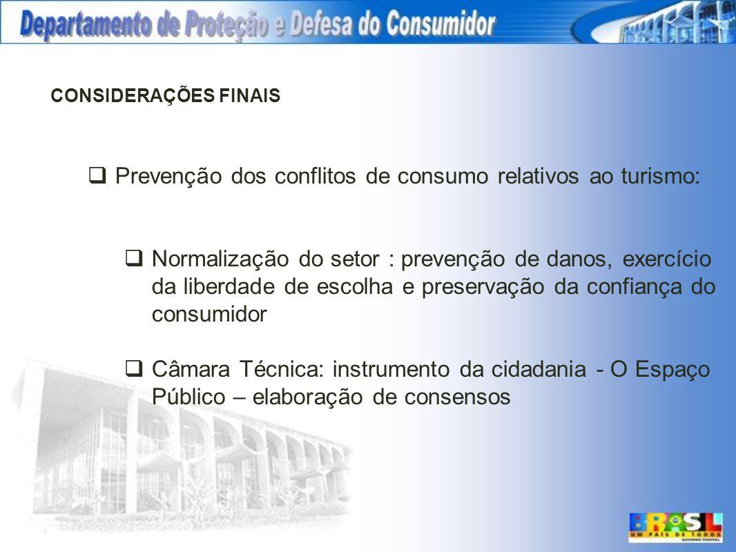 Prevenção dos conflitos de consumo relativos ao turismo: