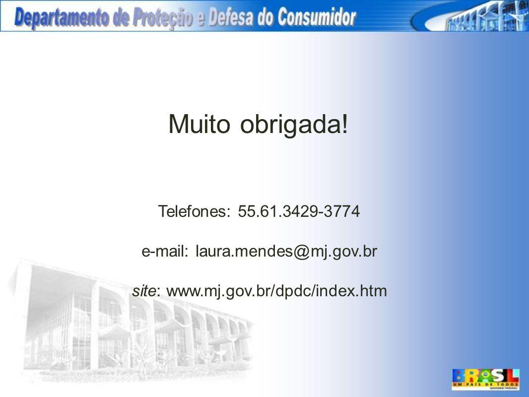 Muito obrigada! Telefones: 55.61.3429-3774