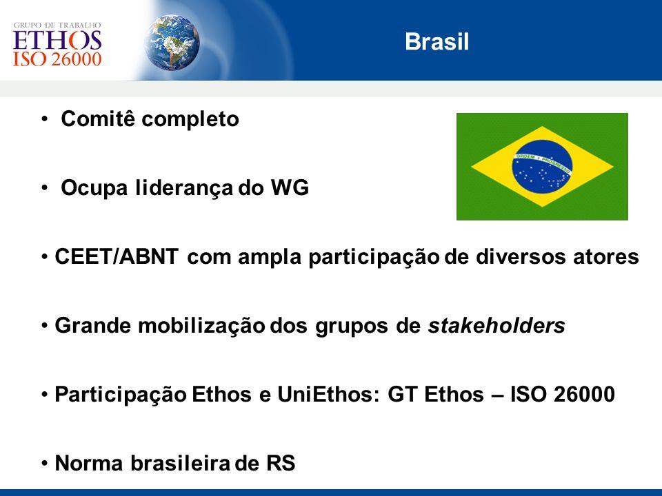 Brasil Comitê completo Ocupa liderança do WG