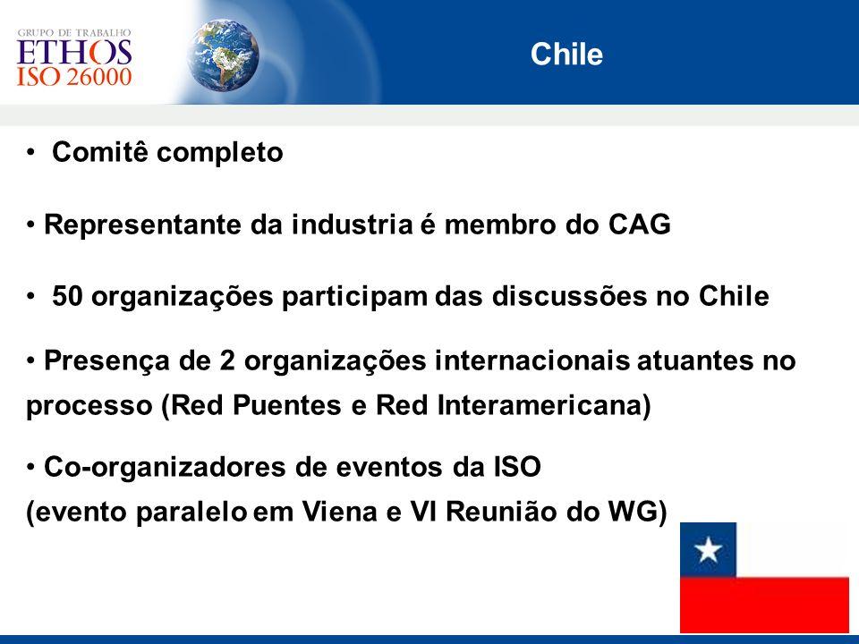 Chile Comitê completo Representante da industria é membro do CAG