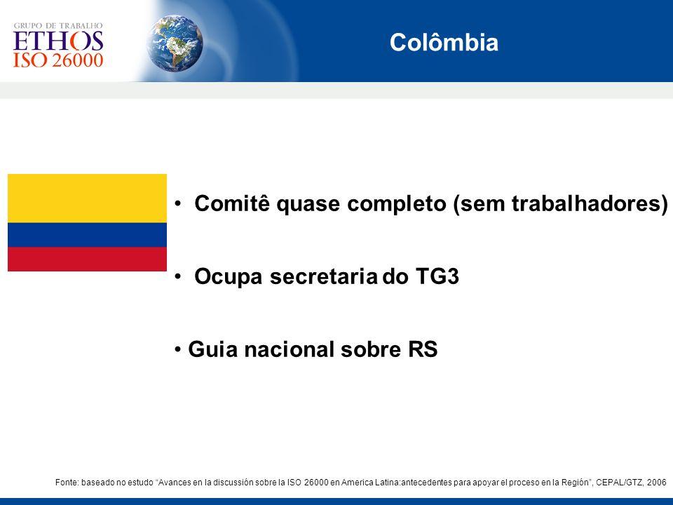 Colômbia Comitê quase completo (sem trabalhadores)