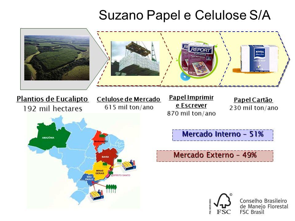 Suzano Papel e Celulose Principais Produtos & Mercados