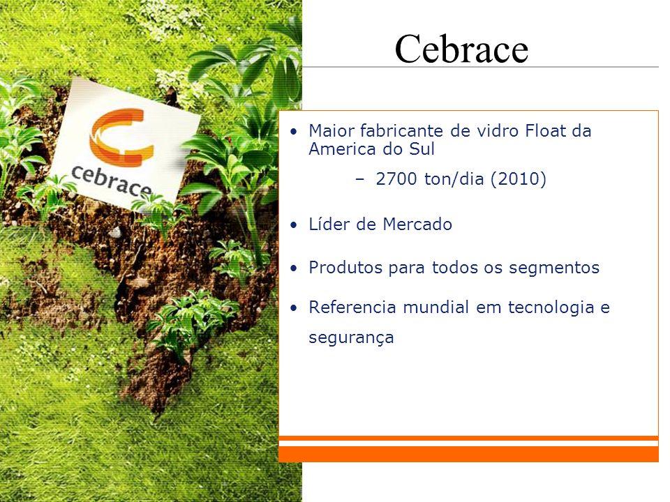 Cebrace Maior fabricante de vidro Float da America do Sul
