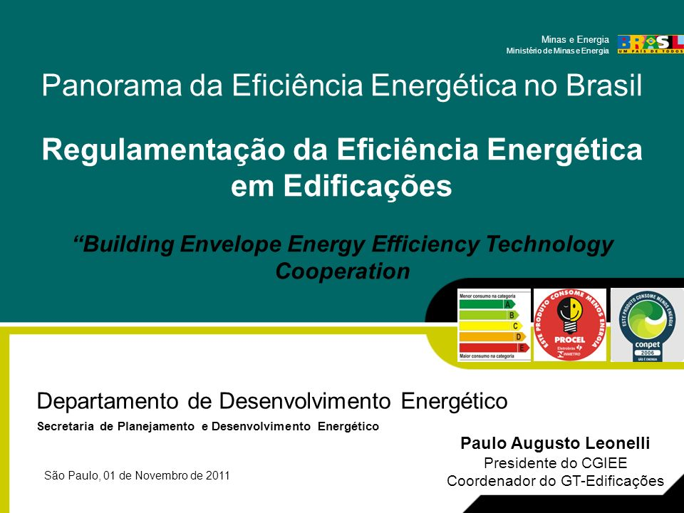 Regulamentação da Eficiência Energética em Edificações