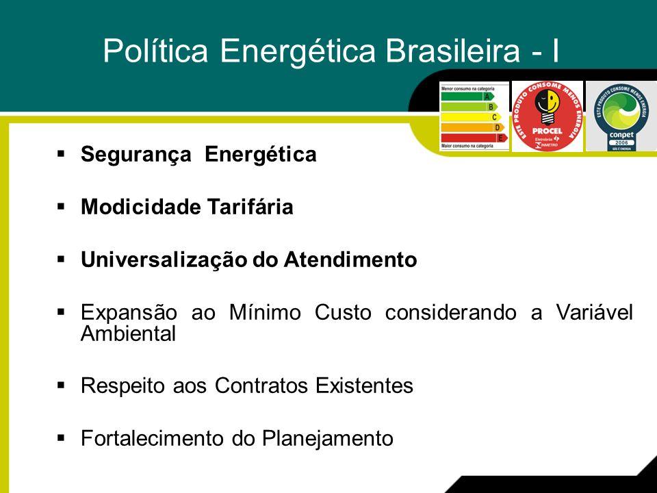 Política Energética Brasileira - I