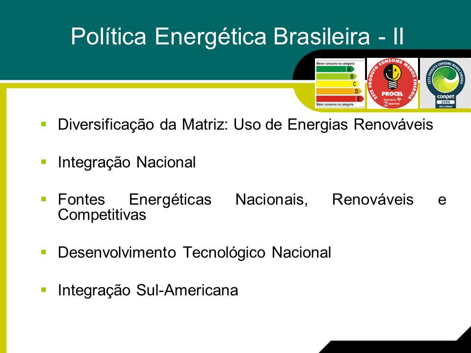 Política Energética Brasileira - II