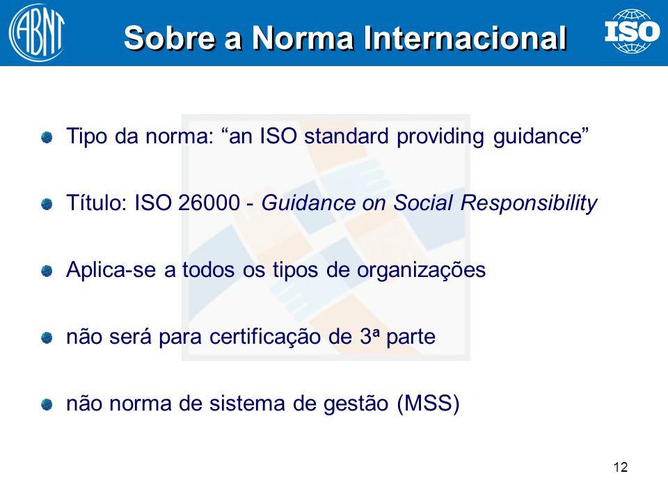 Sobre a Norma Internacional