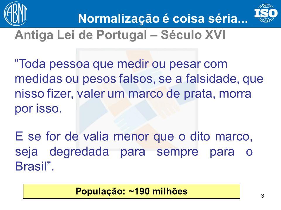 Normalização é coisa séria... Antiga Lei de Portugal – Século XVI