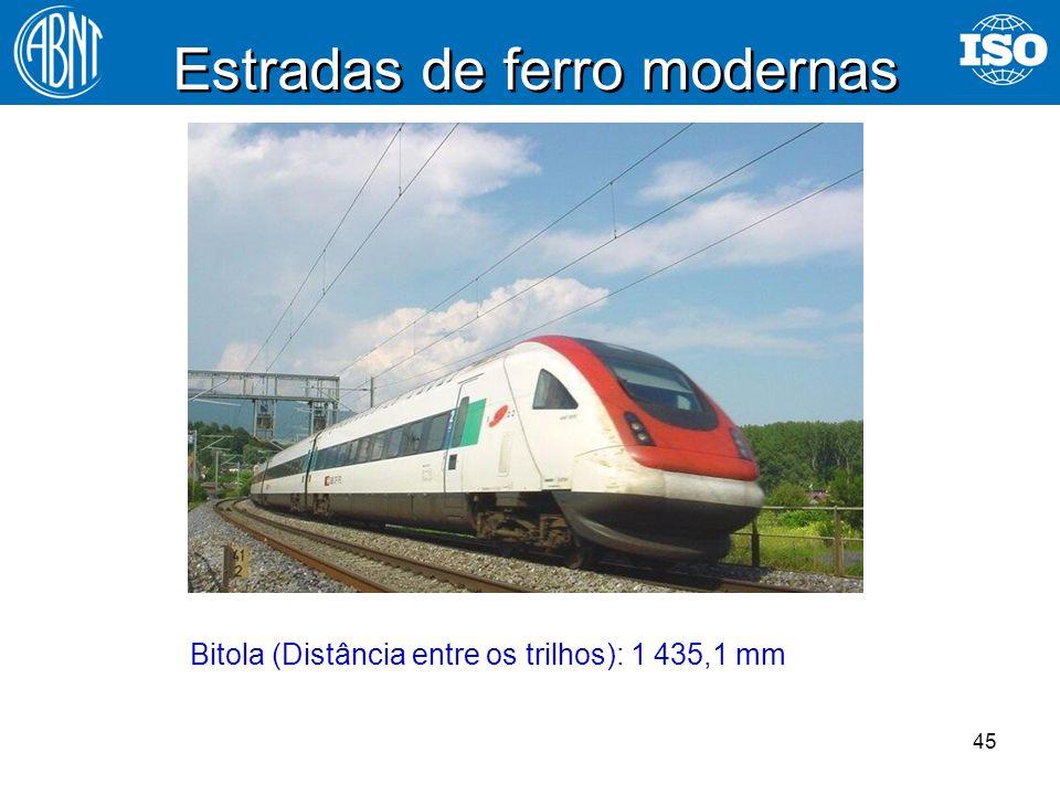 Estradas de ferro modernas