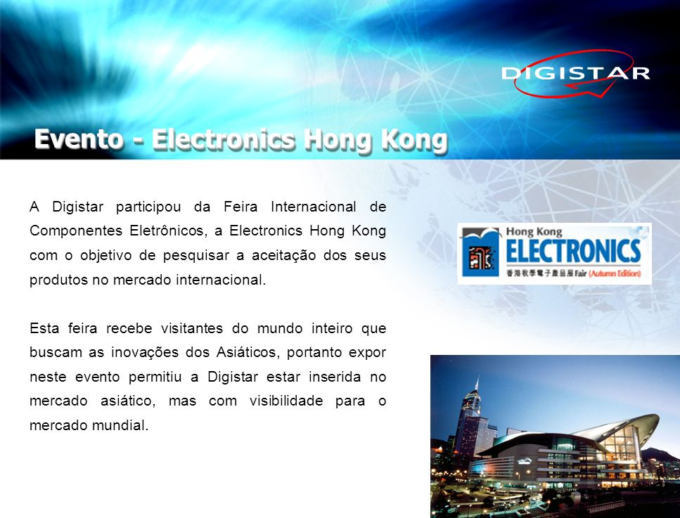 Evento - Electronics Hong Kong
