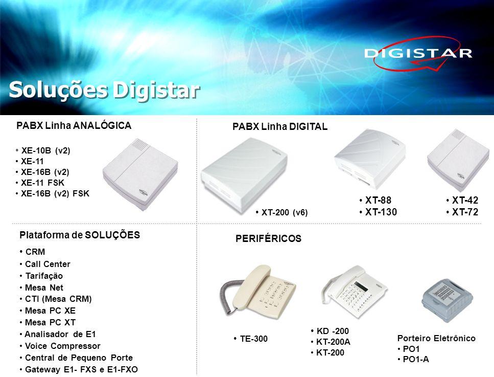 Soluções Digistar PABX Linha ANALÓGICA PABX Linha DIGITAL XE-10B (v2)