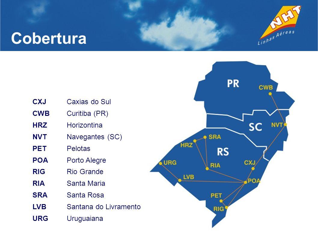 Cobertura CXJ Caxias do Sul CWB Curitiba (PR) HRZ Horizontina