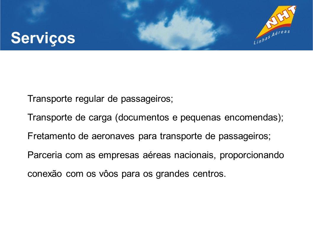 Serviços Transporte regular de passageiros;