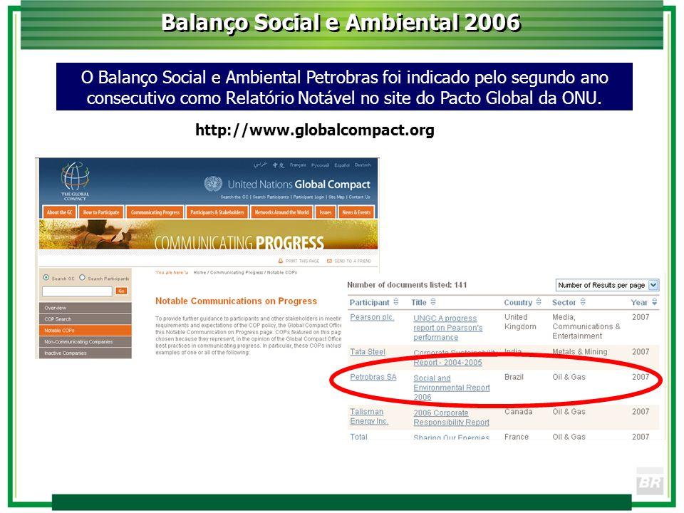Balanço Social e Ambiental 2006