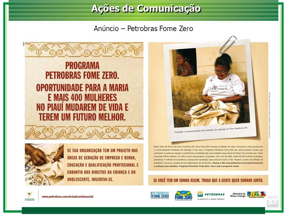 Anúncio – Petrobras Fome Zero