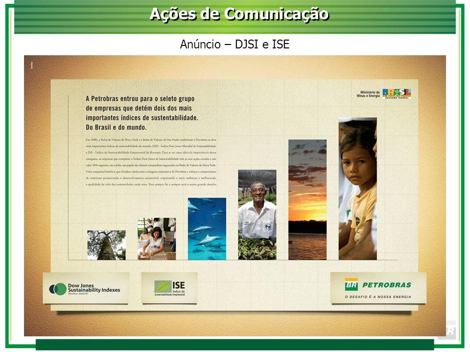 Ações de Comunicação Anúncio – DJSI e ISE