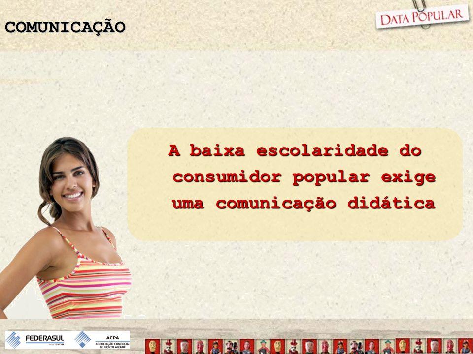 COMUNICAÇÃO A baixa escolaridade do consumidor popular exige uma comunicação didática