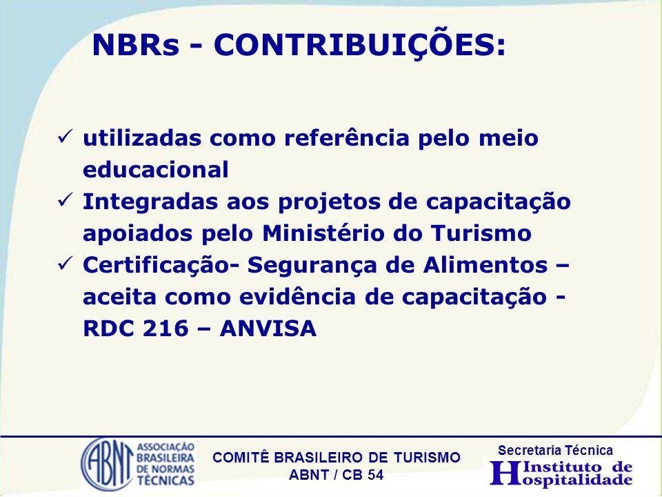 NBRs - CONTRIBUIÇÕES: utilizadas como referência pelo meio educacional