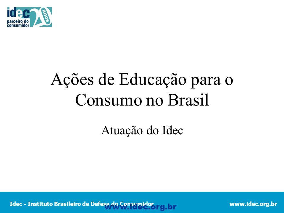 Ações de Educação para o Consumo no Brasil