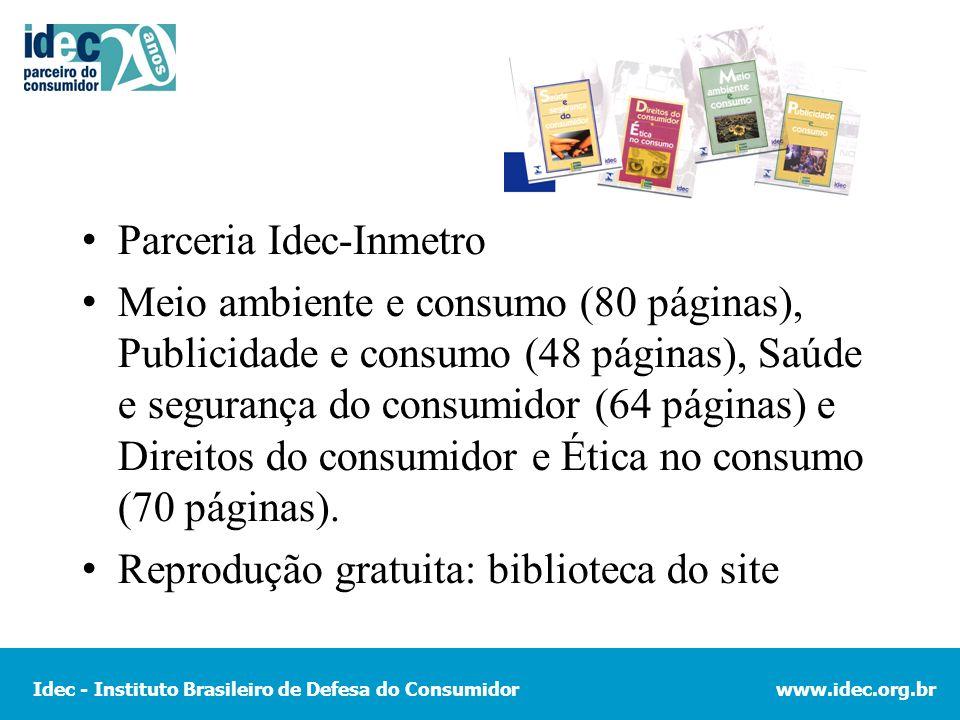 Parceria Idec-Inmetro