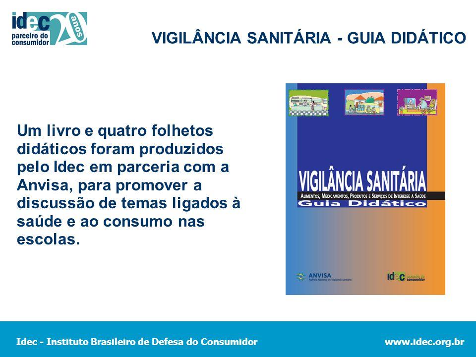VIGILÂNCIA SANITÁRIA - GUIA DIDÁTICO
