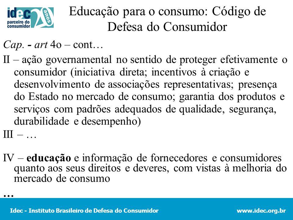 Educação para o consumo: Código de Defesa do Consumidor