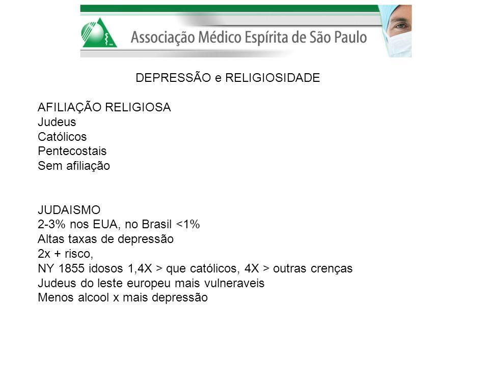 DEPRESSÃO e RELIGIOSIDADE