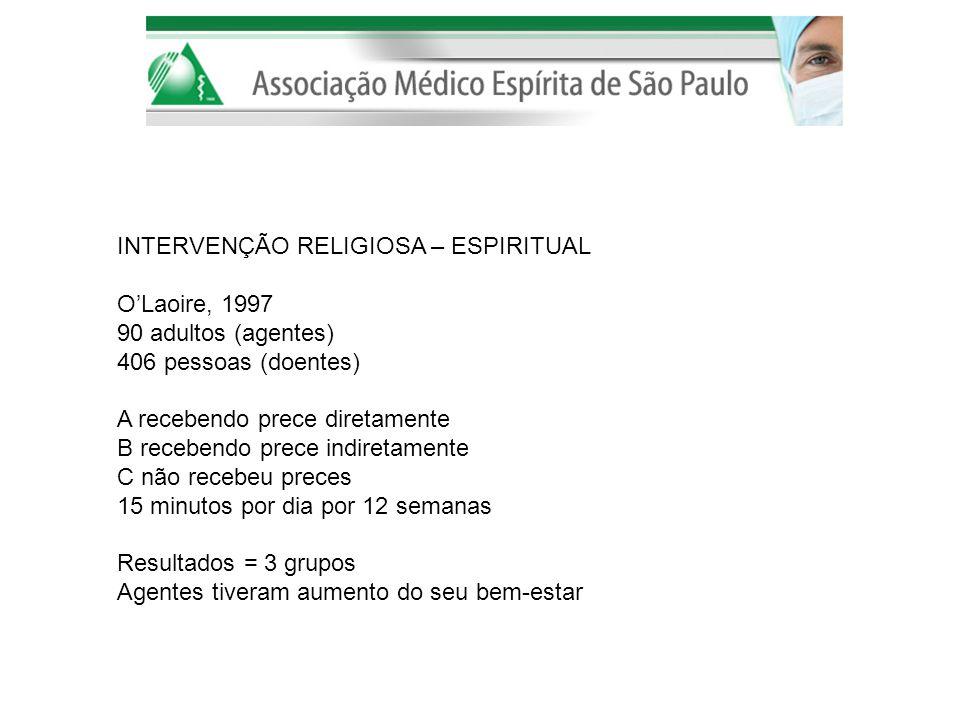 INTERVENÇÃO RELIGIOSA – ESPIRITUAL