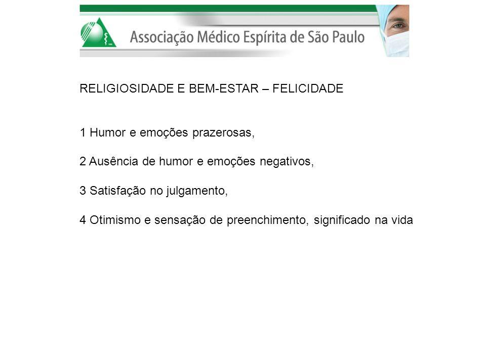 RELIGIOSIDADE E BEM-ESTAR – FELICIDADE