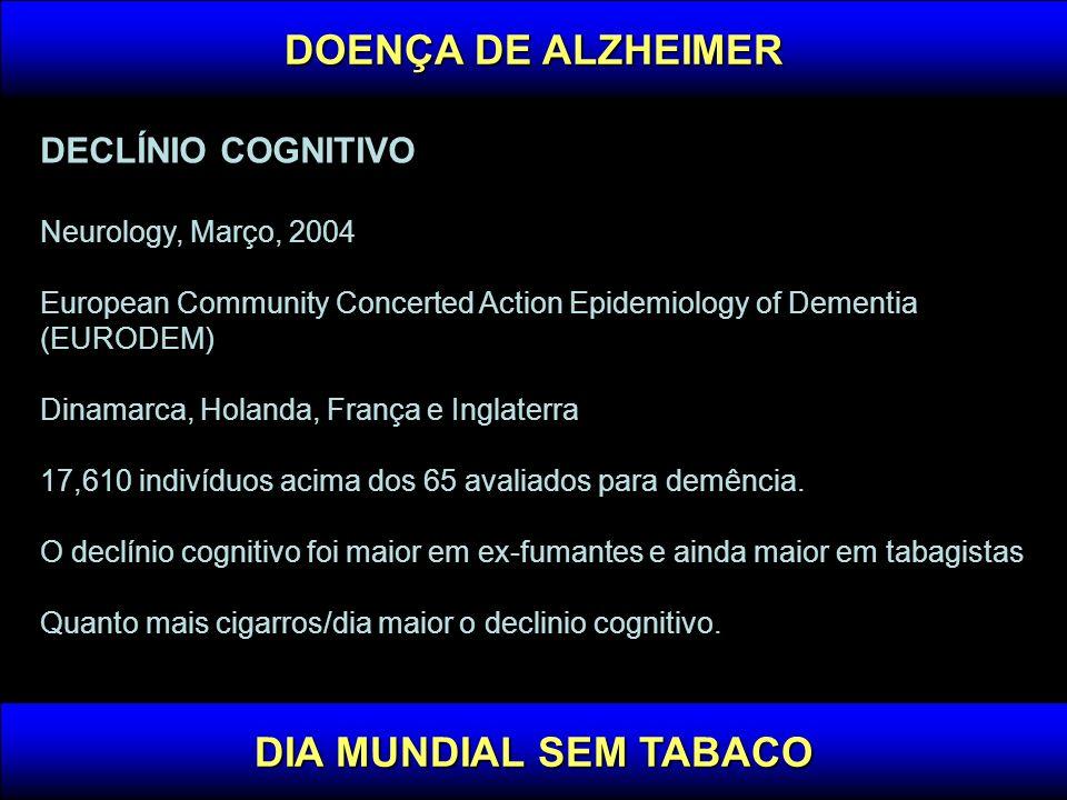 DOENÇA DE ALZHEIMER DIA MUNDIAL SEM TABACO
