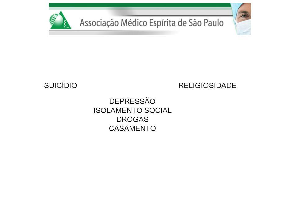 DEPRESSÃO ISOLAMENTO SOCIAL. DROGAS. CASAMENTO.