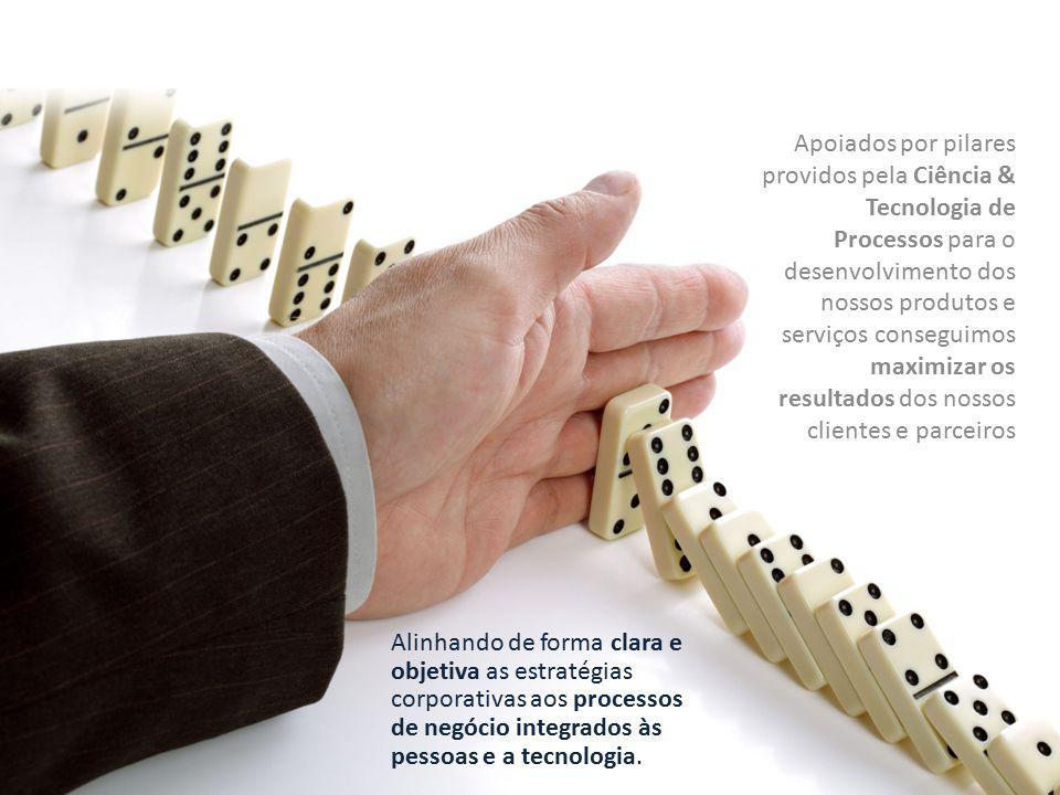 Apoiados por pilares providos pela Ciência & Tecnologia de Processos para o desenvolvimento dos nossos produtos e serviços conseguimos maximizar os resultados dos nossos clientes e parceiros