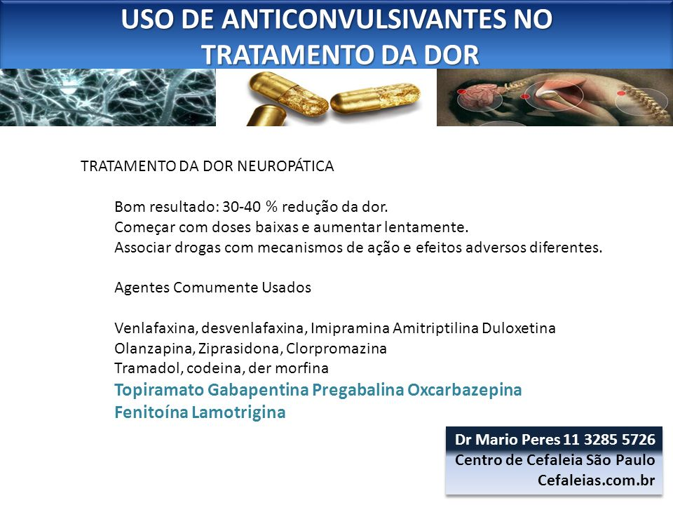 USO DE ANTICONVULSIVANTES NO
