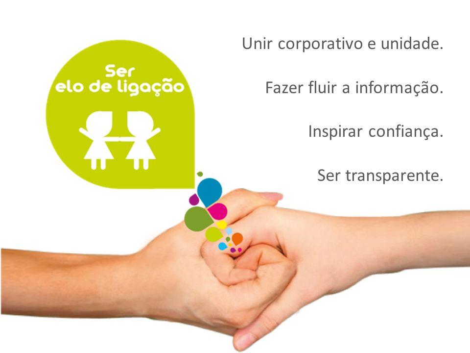 Unir corporativo e unidade.