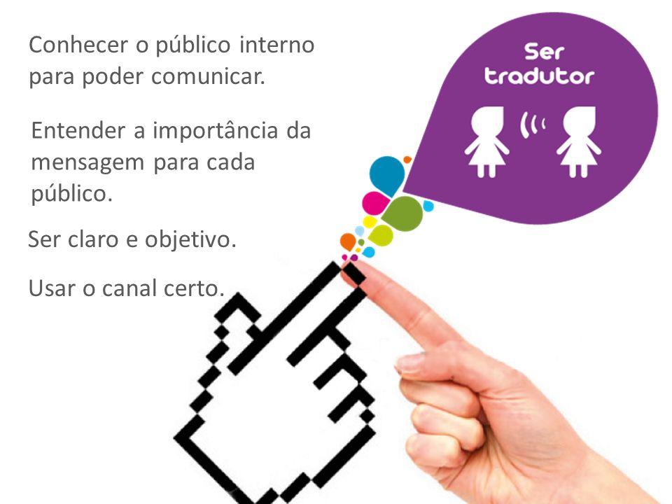 Conhecer o público interno para poder comunicar.