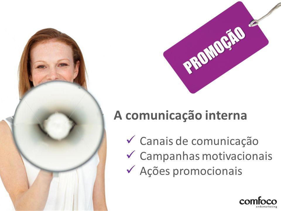 A comunicação interna Canais de comunicação Campanhas motivacionais