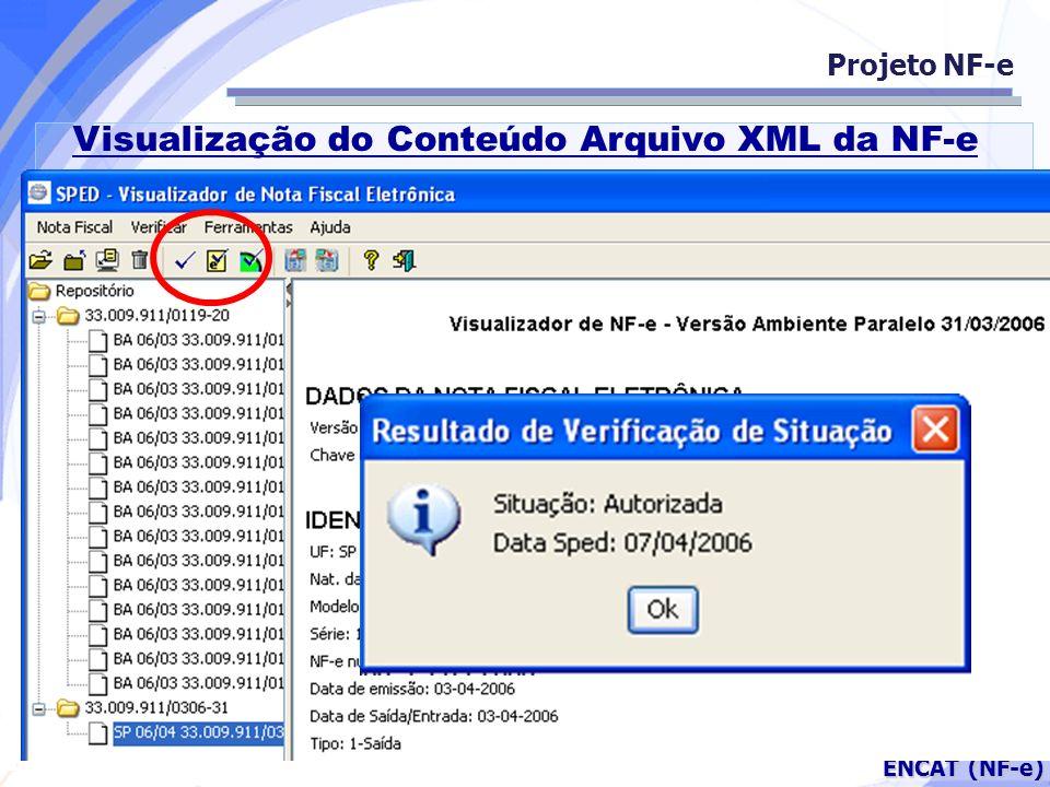 Visualização do Conteúdo Arquivo XML da NF-e