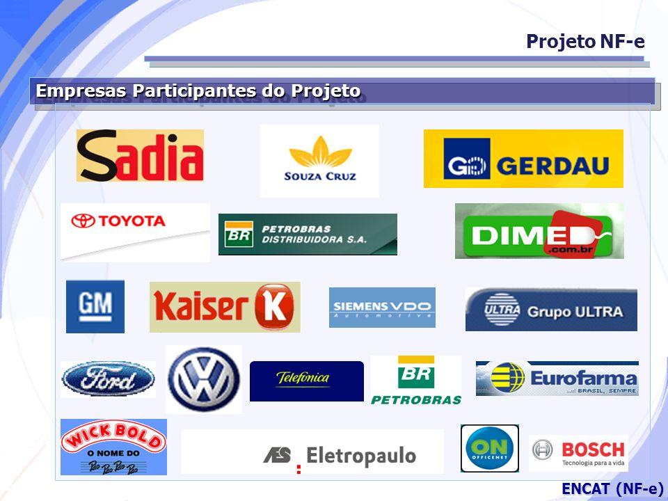 Projeto NF-e Empresas Participantes do Projeto