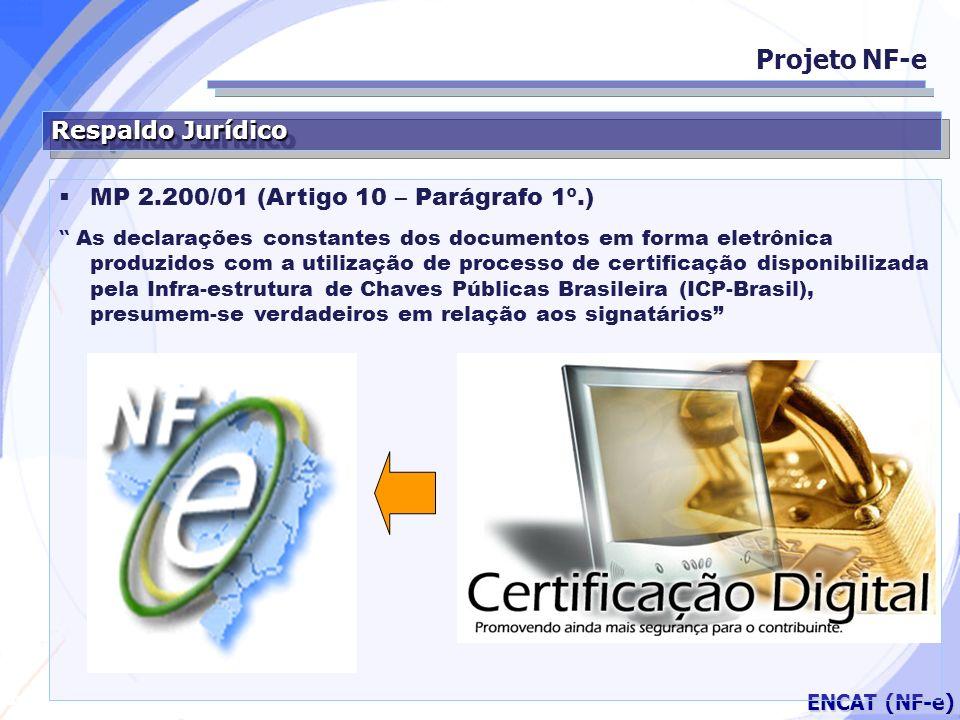 Projeto NF-e Respaldo Jurídico MP 2.200/01 (Artigo 10 – Parágrafo 1º.)