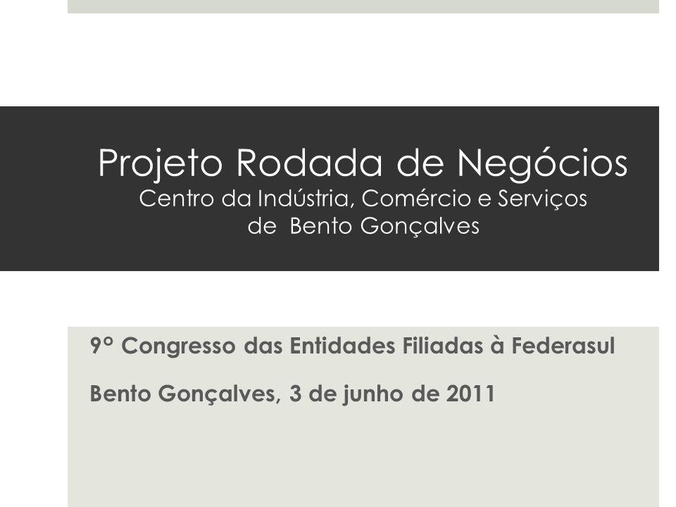 Projeto Rodada de Negócios Centro da Indústria, Comércio e Serviços de Bento Gonçalves